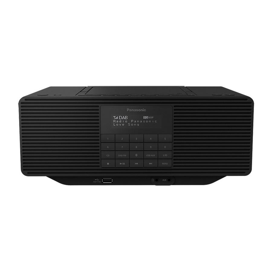 Panasonic RX-D70BTEG-K Black Hi-Fi Portatile CD USB Bluetooth Aux Radio DAB+ FM 30 memorie