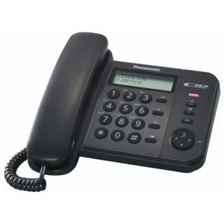 Panasonic KX-TS560EX1B Black Telefono Fisso  Display LCD Rubrica ID Chiamante