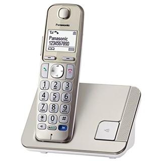 Panasonic KX-TGE210JTN Champagne Telefono Cordless di Facile Utilizzo Tasti Grandi