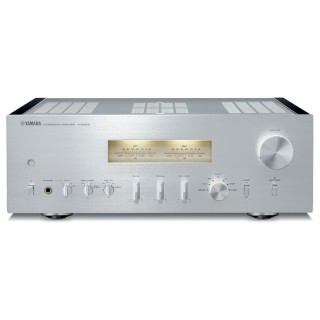 Yamaha A-S2200 Silver-Piano Amplificatore HiEnd 160W x2 Circuiti Bilanciati Trasformatore Toroidale VU-Meter