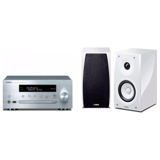 Yamaha MusicCast MCR-N570D Silver White Sistema HiFi DAB CD USB Aux Bluetooth AirPlay 22Wx2