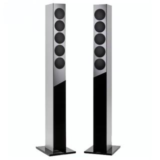 Revox Re:sound G elegance Black-Silver Coppia Casse Pavimento 120W Slim Design