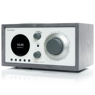 TivoliAudio Model One+ Grey/White Radio DAB/DAB+ FM Bluetooth Aux Orologio Sveglia