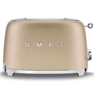 Smeg TSF01CHMEU Oro Opaco 50's Style Tostapane 2 Fette Espulsione Automatica Cassetto Briciole