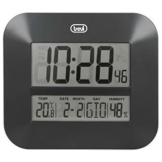 Trevi OM3520D Black Orologio Digitale Calendario Temperatura Umidità da Parete o Tavolo
