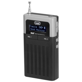 Trevi DAB793R Nero Radio DAB DAB+ FM RDS 10memorie Display Pile PresaCuffia Sveglia