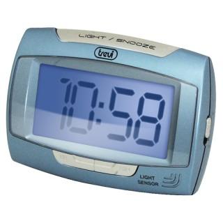 Trevi SLD3065 Blu Orologio Digitale Display LCD Sensore Illuminazione Automatica Sveglia