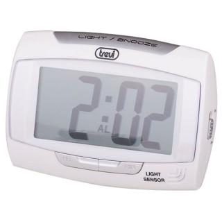Trevi SLD3065 White Orologio Digitale Display LCD Sensore Illuminazione Automatica Sveglia