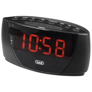 Trevi EC885 Black Orologio Digitale LED Luminosi Dimmerabili Doppia Sveglia