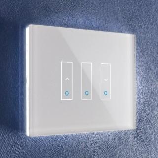 iotty LSWI3SW White Interruttori 2 UpDown 1 OnOff Vetro Touch Smart Wi-Fi Controlli Vocali