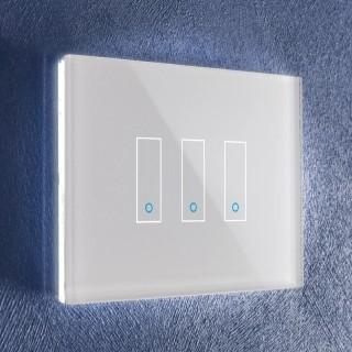 iotty LSWI33W White Interruttori 3 OnOff Vetro Touch Smart Wi-Fi Controlli Vocali