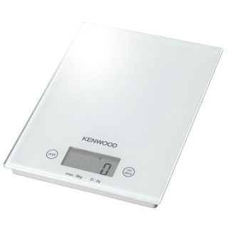 Kenwood DS401.W Bianca Pesa Alimenti Elettronica Max8Kg Frazione 1g Superficie Vetro