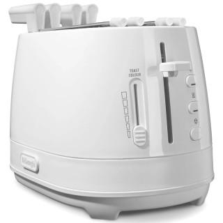 DeLonghi CTLAP2203.W Bianco Tostapane 550W Funzioni Riscaldamento Scongelamento