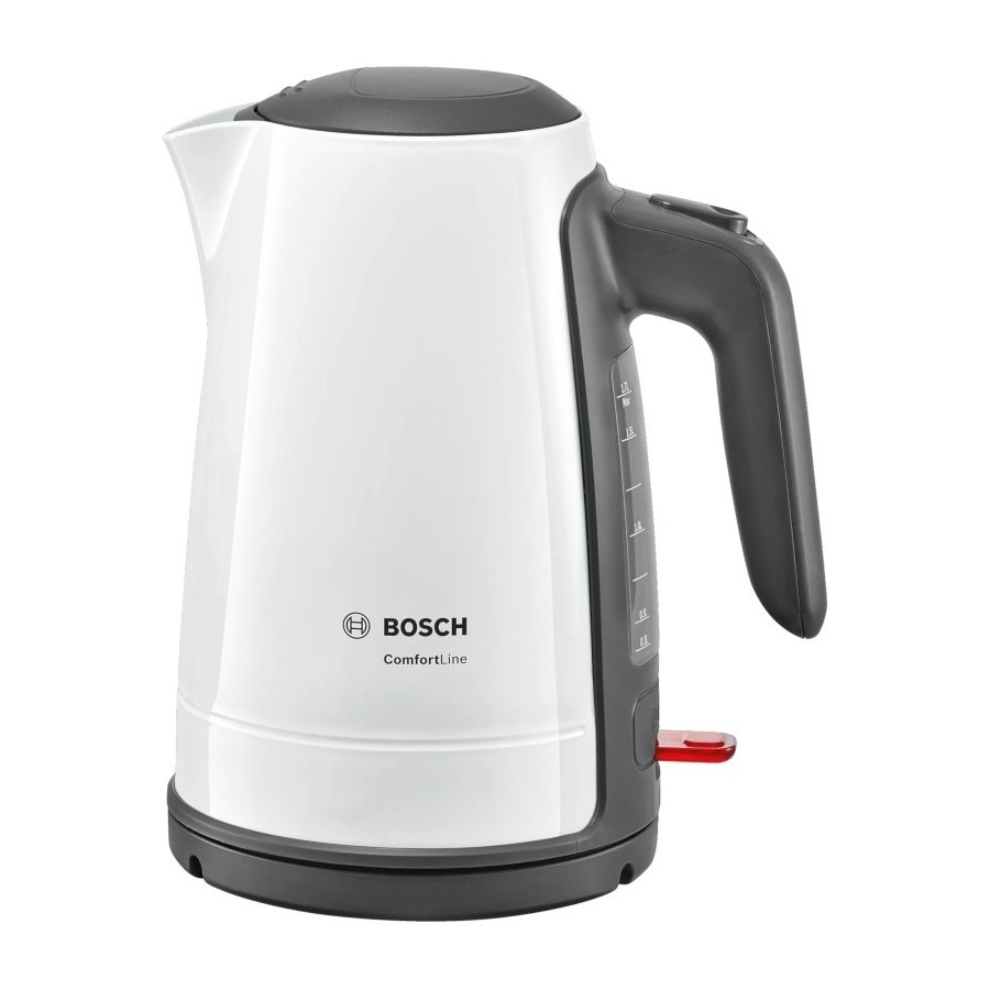 Bosch TWK6A011 Bianco Bollitore 1.7L 2400W Funzione 1Tazza Filtro Calcare Removibile AutoOff