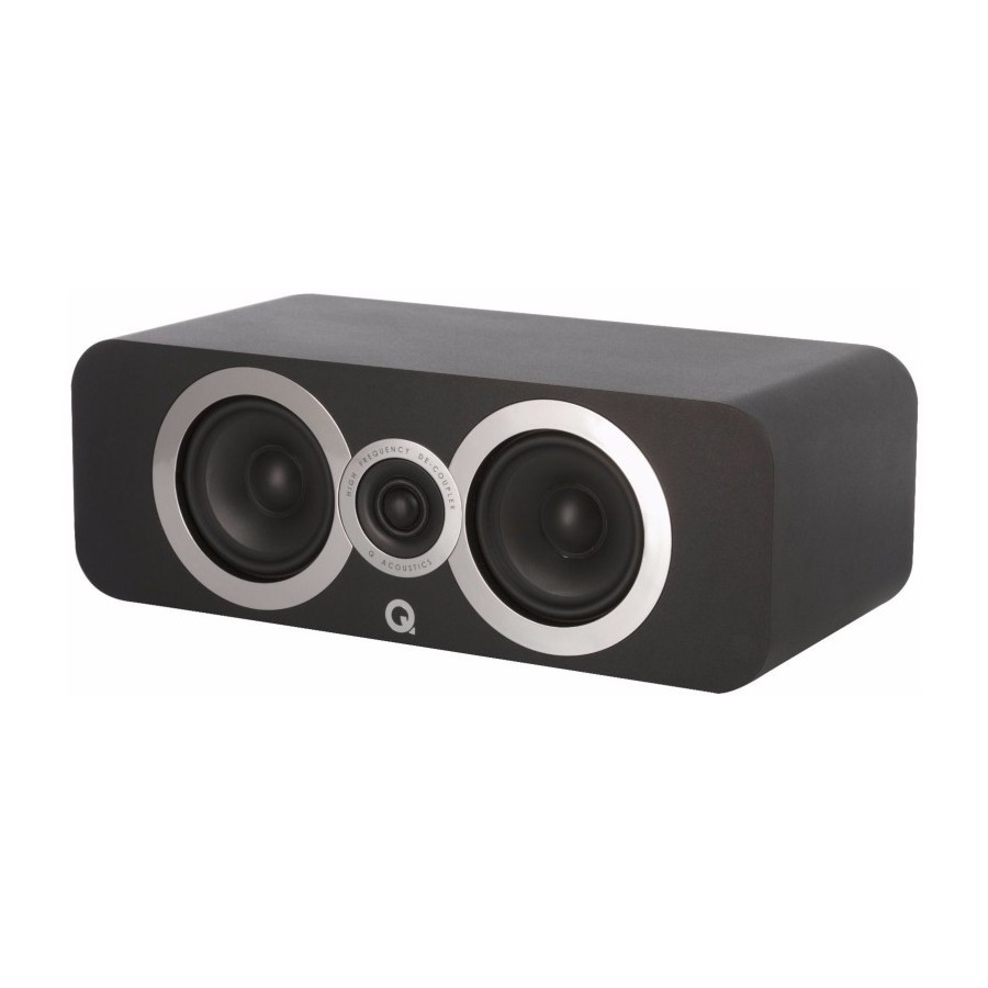 Q Acoustics 3090Ci Centre Carbon Black Cassa Centrale 100W 2vie T2,2 2xW10 BassReflex