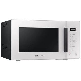 Samsung MG23T5018GE/ET Glass Design Bianco Porcellana Microonde Grill 23L Accessorio Vaporiera