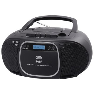 Trevi CMP576DAB Black Stereo Portatile Radio DAB DAB+ FM CD MP3 Cassetta USB Aux