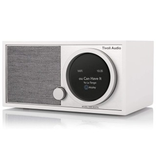TivoliAudio Model One Digital (Gen.2) White Radio DAB+ FM BT AirPlay2 Chromecast Wi-Fi Art