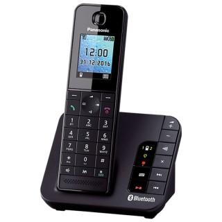 Panasonic KX-TGH260JTB Black Telefono Cordless DECT Link to Mobile VivaVoce Segreteria Telefonica