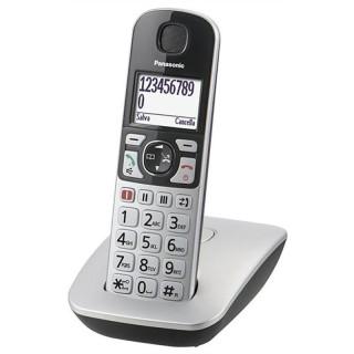 Panasonic KX-TGE510JTS Silver Telefono Cordless DECT VivaVoce TastiParlanti SuoneriaForte