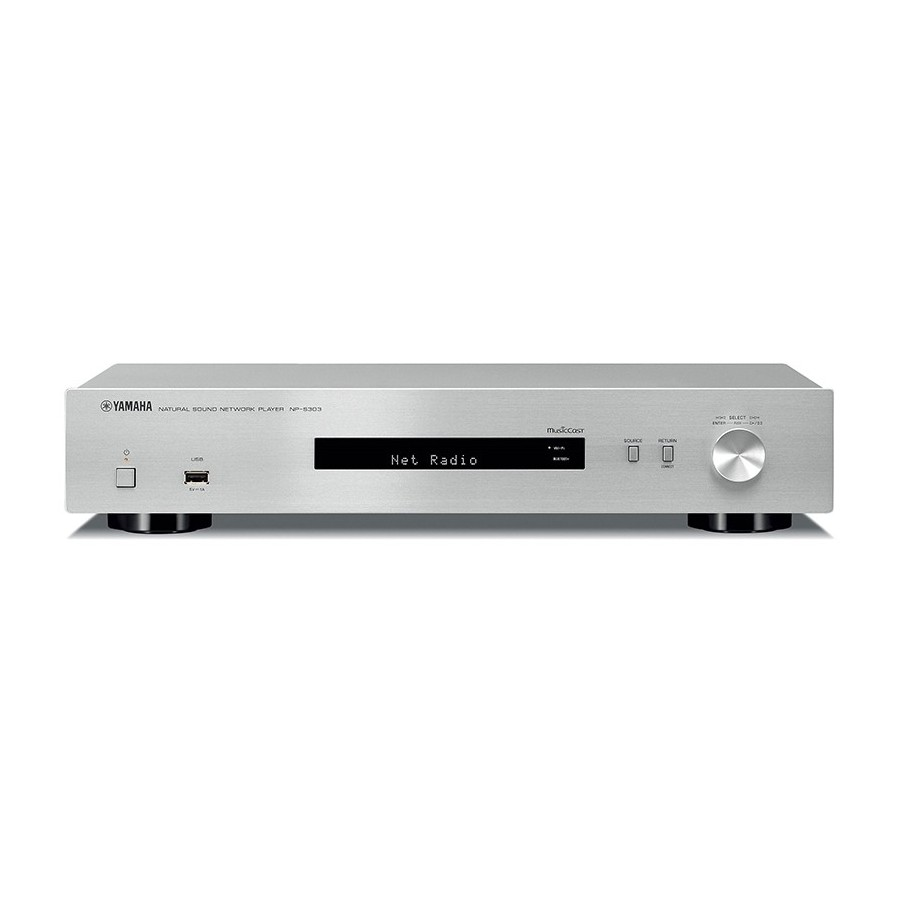 Yamaha NP-S303 Silver Network Player MusicCast InternetRadio AirPlay Bluetooth USB Wi-Fi