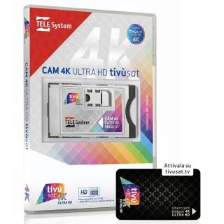 TeleSystem CAM tivùsat 4K Ultra HD Smartcard 4K inclusa nella confezione