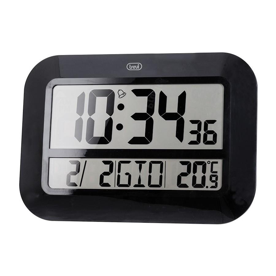 Trevi OM3540D Black Orologio con Temperatura Calendario Tavolo o Parete Digitale