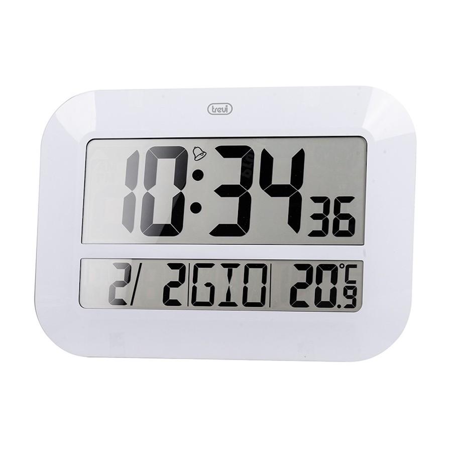 Trevi OM3540D White Orologio con Temperatura Calendario Tavolo o Parete Digitale