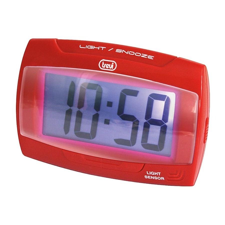 Trevi SLD3065 Red Orologio Digitale Display LCD Sensore Illuminazione Automatica Sveglia