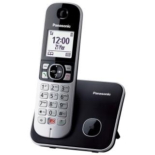Panasonic KX-TG6851JTB Black Telefono Cordless DECT-GAP VivaVoce Display1.8'