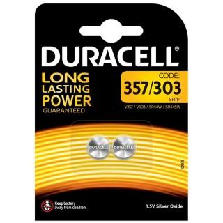 Duracell SR44/357/303 1,5V Batteria Alcalina LongLastingPower Blister 2pile