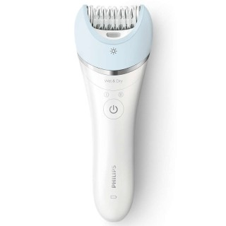 Philips BRE605 Epilatore Satinelle Advanced DischiCeramica Wet&Dry Ricaricabile