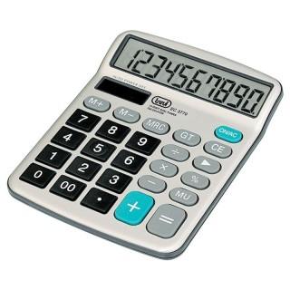 Trevi EC3770 Calcolatrice Display Grande Inclinato 10 cifre Batteria Solare