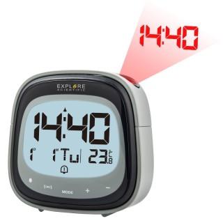 ExploreScientific RDP3007 Orologio Proiezione Sveglia Calendario Temperatura